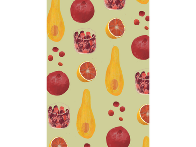 Thursday fruits 🍊 fruits food pattern pattern digital illustration still life digital painting painting food illustration illustration