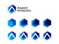 Aspect Analytics, bioinformatics research software logo design