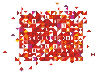 Socialblood graphics for identity / t-shirt design abstract geometric triangles clothing apparel fashion tee t-shirt corporate pattern identity pattern graphics blood donation blood social social blood socialblood custom custom made branding identity brand typographic typography type logotype logo designer logo design design logo colorful creative