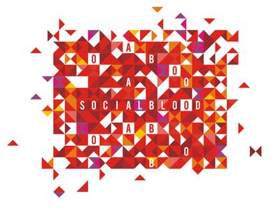 Socialblood graphics for identity / t-shirt design