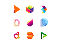 36 Days of Logos / Logo alphabet: letter D