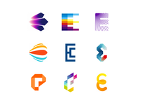 36 Days of Logos / Logo alphabet: letter E