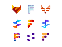 36 Days of Logos / Logo alphabet: letter F