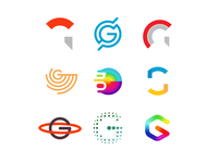 36 Days of Logos / Logo alphabet: letter G
