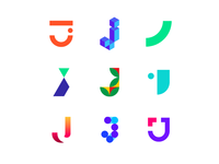 36 Days of Logos / Logo alphabet: letter J