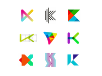 36 Days of Logos / Logo alphabet: letter K