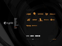 cyclic website design - partners page