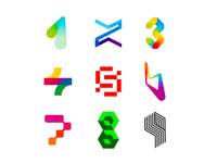 LOGO Alphabet: 1 - 9 numbers