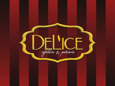 Delice logo  wrapping pattern design by alex tass