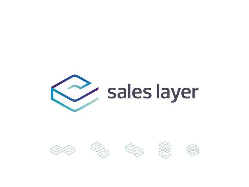 Sales Layer, sales and marketing application, logo design letter mark monogram l s sales layer marketing tool software service application logo logo design design logo designer blue