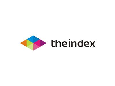 The Index web / mobile / apps developer logo design developer mobile web logo designer logo design design logo geometric diamond colorful mark index