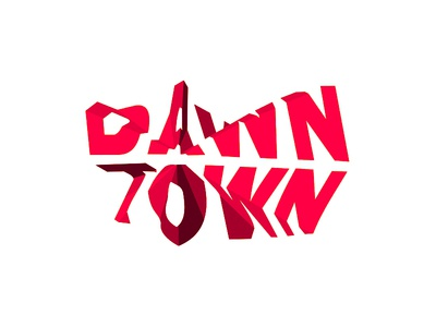 dawntown modern architecture logo design