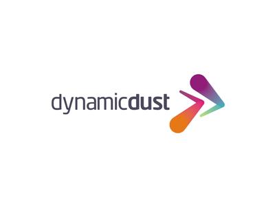 Dynamic Dust logo design for games and apps developer