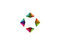 Diamond v2 logo design symbol