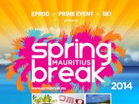 Spring break mauritius 2014 flyer design by alex tass