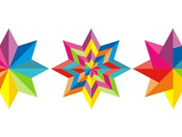 Colorful star, logo design symbol explorations