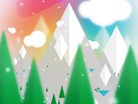 Winter EDM festival flyer / poster design