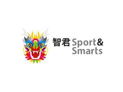 智君 Sport & Smarts children logo design