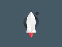 Rocket logo design symbol