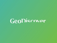 GeoDiscover logo design green word mark logotype earth geography logo design logo triangulated irregular networks geographic information systems it gis discover