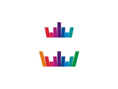 sound wave + crown logo design symbolalex tass, logo designer