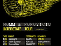 Homm & Popoviciu - Interstate - tour poster design detail