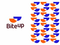 BiteUp logo design: B, U, bowls / cups, chat, smiles fun interactive talk talking quote message social socializing app logomark brand identity branding creative flat 2d geometric vector icon mark symbol logo design logo letter mark monogram u hang out hangout meet meetup friend friends chat chats smile smiles coffee cups food bowls