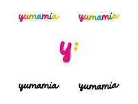 Yumamia logo design by alex tass