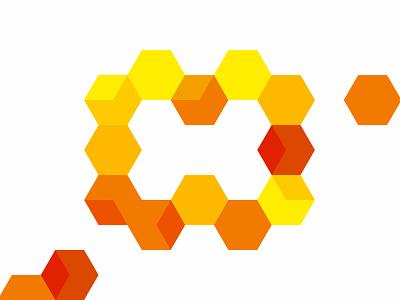 H for The Hive, letter mark / logo design symbol architecture modules modular honey honeycomb constructions construction logomark branding logo designer icon symbol logo design structure bees bee monogram letter mark hive