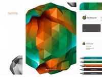 Geodiscover stationery design by alex tass