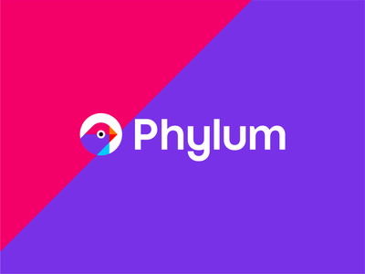Phylum, software development security logo design cyber security it digital bird colorful logomark brand identity branding creative flat 2d geometric logo design logo logo designer startup fintech tech supply chain security development software finch