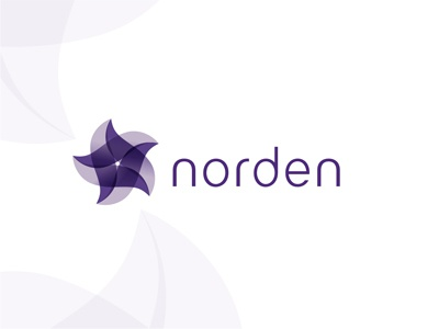 Norden logo design north nordic northern star scandinavia scandinavian purple logo design logo design northern star logo designer