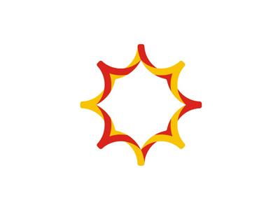 Sun logo design symbol by alex tass