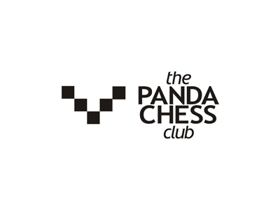 Panda chess club logo design by alex tass