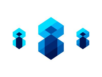 i8, immersive tech logo design symbol explorations 3d cinematic 360 ar technology tech learning deep depth logo design logo monogram letter mark eight immersive 8 i 8i i8