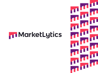 Market analytics, logo for business data insights analytics consumers behaviour marketers digital sales corporate pattern branding logo design logo perspective buildings door monogram letter mark business insights data analytics marketing market