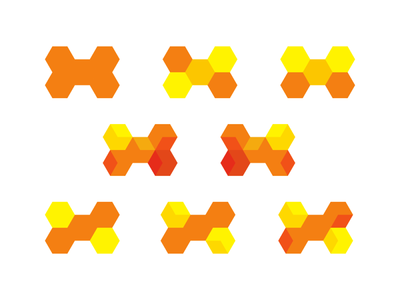 H for Hive, modular letter mark logo design symbol explorations blocks bees bee hive construction honeycomb modules architecture structure explorations logo designer logo design logo dynamic modular monogram letter mark