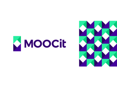 MOOCit, M, bookmark, online courses logo design bookmark monogram letter mark logomark corporate pattern courses digital logo designer logo design logo web education elearning e-learning course online open