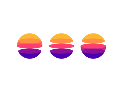 Portals / dimensions / planets for a digital ecosystem logo icon orb sunset sunrise sun multiverse universe space creative colorful logo designer logo design logo ecosystem digital planets planet dimensions dimension portals portal