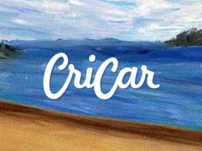 Cricar logo design painting paintings painter logo logo design design word mark logotype handwritten script hand written calligraphic calligraphy artist