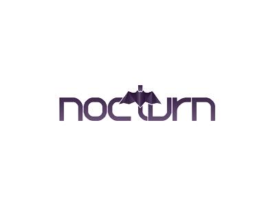 Nocturn logo design nocturnal bat bats nocturn logo logo design design studio freelance purple design logo designer batman
