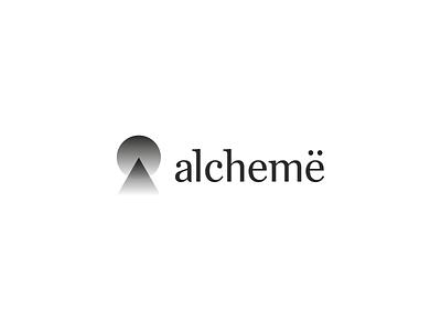 Alchemë, logo & identity design for beauty social platform app logo icon letter mark monogram a l e x t a s s l o g o d s g n b c f h i j k m p q r u v w y z e a social networking network platform gold logo design logomark professionals industry parlour beauty alchemy