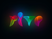 Rive radio logo design