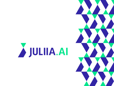 Juliia.ai, logo design for industrial artificial intelligence financial efficiency lean manufacturing production optimization machine learning science data logomark logo design logo letter mark monogram j a artificial intelligence ai industry manufacturing iot industrial