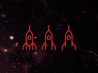 Rockets logo design symbol