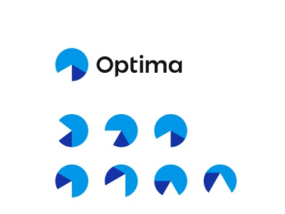 Optima, sports activity tracking logo: O, timer, chart, mountain peak mountain top analytics chart graphic timer clock activity tracker tracking sports logomark logo design logo 0 o monogram letter mark optimum