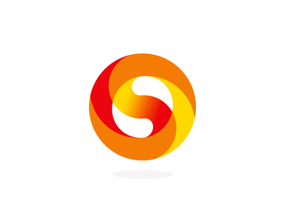 S, sun, Yin Yang, circle, letter mark / logo design symbol a l e x t a s s l o g o d s g n letter mark monogram b c f h i j k m p q r u v w y z swirl ball fire moving spinning dynamic power negative space 0 o logomark logo design logo sphere circle yin yang sun