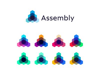 Assembly, open source technology framework protocol logo design a democratic community governance platform cooperatives iot startup ecosystem enterprise adoption technology protocol distributed network smart contracts cryptocurrency framework open source internet of things monogram letter mark logomark logo design logo tech standard assembly