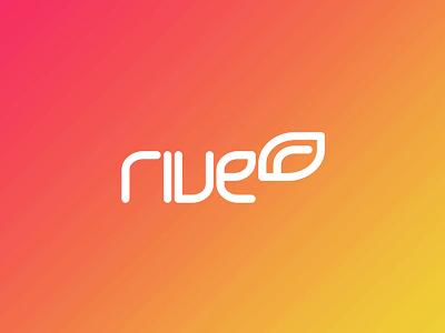 Rive radio logo design stream developer applications apps mobile web design logo design logo online streaming radio