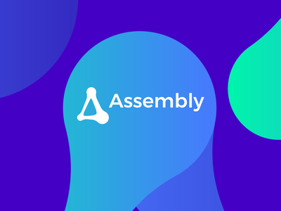 Assembly, open source technology framework protocol logo design smart contracts community cryptocurrency crypto distributed network startup ecosystem iot icon logomark logo design logo protocol framework technology tech open source monogram letter mark organic